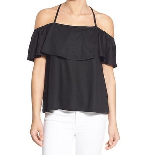 Chelsea28 Black Cross Back Women's Size Large L Popover Knit Top