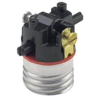 Leviton 002-07080-00M Push Button Lamp Socket, 250 Volt, 660 Watt