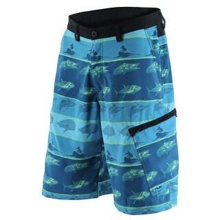 Huk Men's KC Scott Fish Hybrid Turquoise Size 30 Lite Shorts