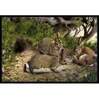 Carolines Treasures BDBA0136JMAT Rabbits & the Rabbit Hole Indoor or Outdoor Mat 24 x 36
