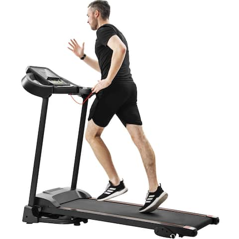 Nestfair Easy Folding Treadmill with Audio Speakers and Incline Adjuster