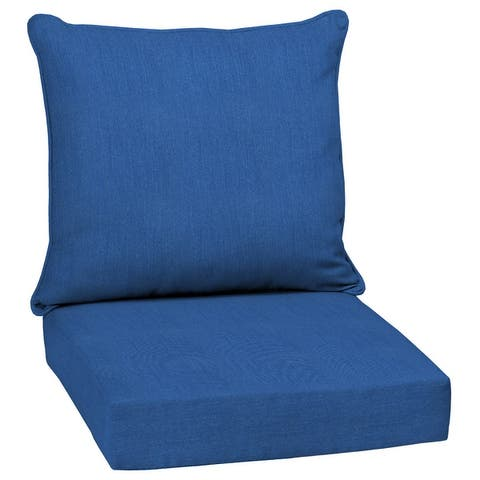 Arden Selections Lapis Canvas Texture Outdoor Deep Seat Set - 24 W x 24 D in.