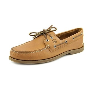 Sperry Top Sider A/O 2-Eye Men W Moc Toe Leather Brown Boat Shoe