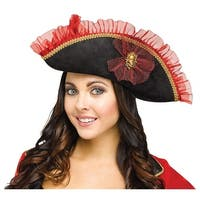 Fancy Pirate Hat Adult Costume Accessory