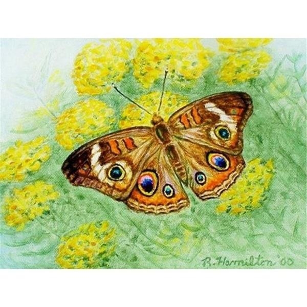 Betsy Drake DM763 Buckeye Butterfly Doormat 18 x 26