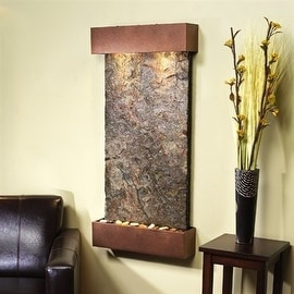 Adagio Whispering Creek With Green Natural Slate in Copper Vein Finish Fountain