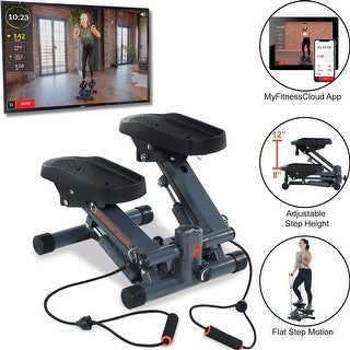 Link to Women?s Health Men?s Health Cardio Stair Stepper with Adjustable Resistance Bands and MyCloudFitness App Similar Items in Cardio Equipment