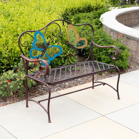 Alpine Outdoor 2-Person Butterfly Garden Bench