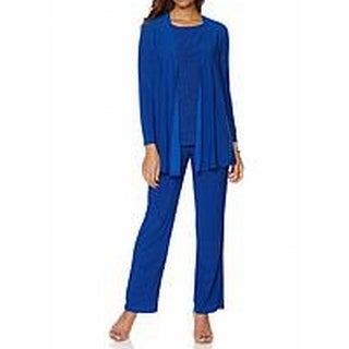 Antthony Originals NEW Blue Womens Size XL Twinset Stretch Pant Sets