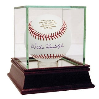 Willie Randolph Autographed and Engraved Career Stats MLB Baseball ()