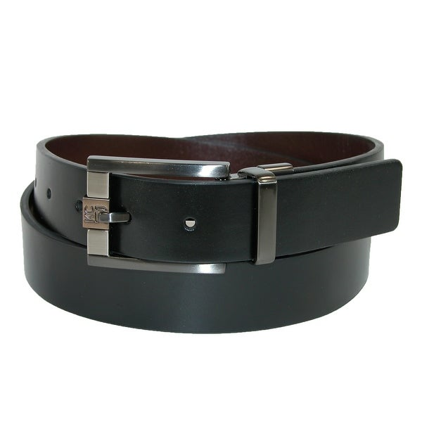 Kenneth Cole Reaction Men's 32mm Reversible Belt with 3 Tone Buckle