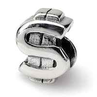 Sterling Silver Reflections Dollar Sign Bead (4mm Diameter Hole)