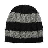 Richie House Boys' Striped cap - black&grey - width 19cm x height 21cm