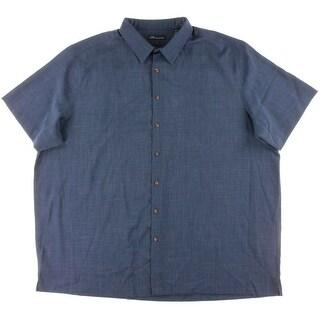 John Ashford Mens Big & Tall Button-Down Shirt Pattern Collar (Option: 3xlt)