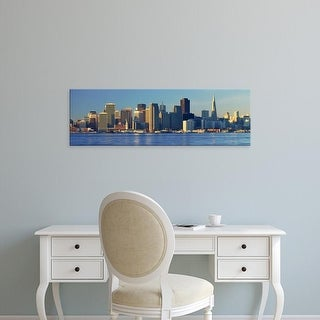 Easy Art Prints Panoramic Image 'Transamerica Building, San Francisco skyline, Treasure Island, California' Canvas Art