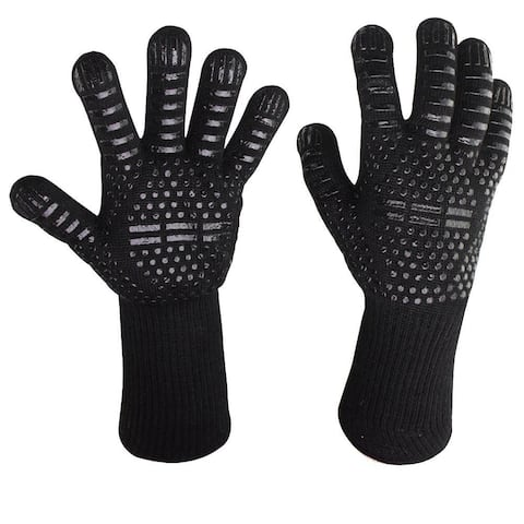 BBQ Grill Gloves 932 F Extreme Heat Resistant Oven Gloves