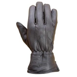Premium Lambskin Mens Winter Driving Dress Gloves Thermal lined Black FG1