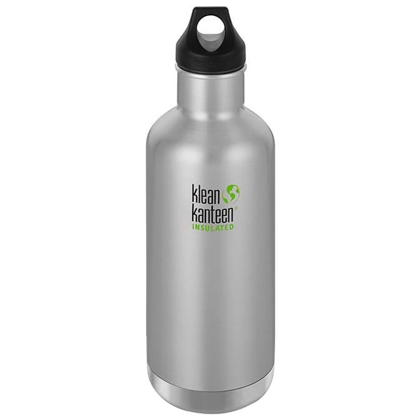 Klean Kanteen Classic Insulated 32 oz. Bottle with Loop Cap - Brushed Stainless - Brushed Stainless - 32 oz.