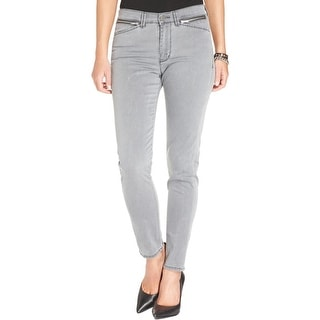 Calvin Klein Jeans Womens Skinny Jeans Low-Rise Faded