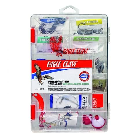 Eagle Claw 0848-6794 Eagle Claw Fresh Water Tackle Kit, Assorted, 80 Piece