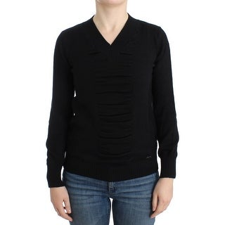 Costume National Black V-neck wool sweater