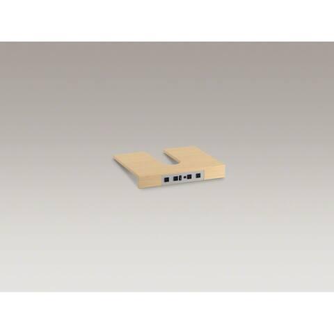 Kohler K-99678-SH10 Tailored Vanities Adjustable Shelf with Integrated Electrical Strip for K-99509 Jacquard, K-99522 Damask,