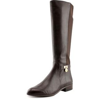 Michael Michael Kors Hamilton Tall Boot Round Toe Leather Knee High Boot