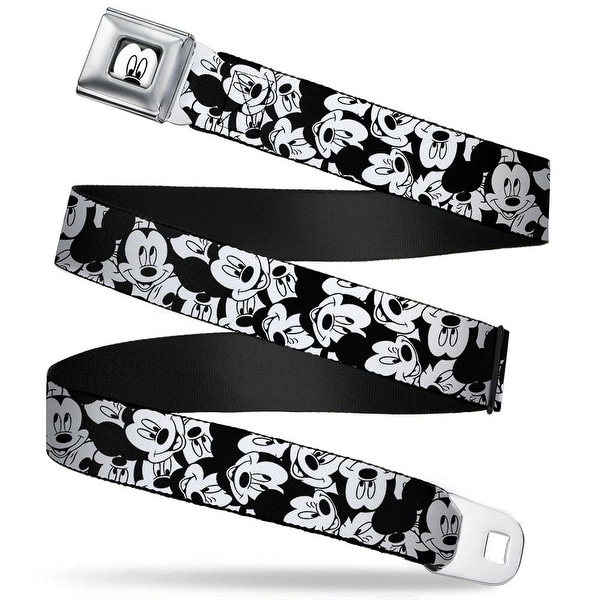 Mickey Mouse Face Close Up Full Color White Black Mickey Mouse Expressions Seatbelt Belt
