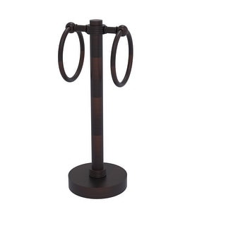 Allied Brass Vanity Top 2 Towel Ring Guest Towel Holder with Groovy Accents