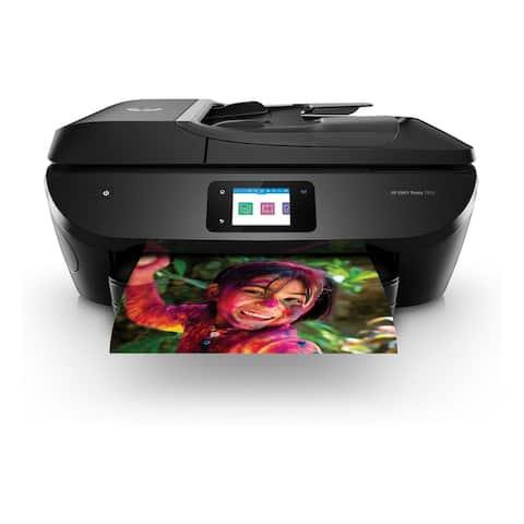 HP ENVY Photo 7855 All-in-One Printer - RENEWED (K7R96A) - BLACK