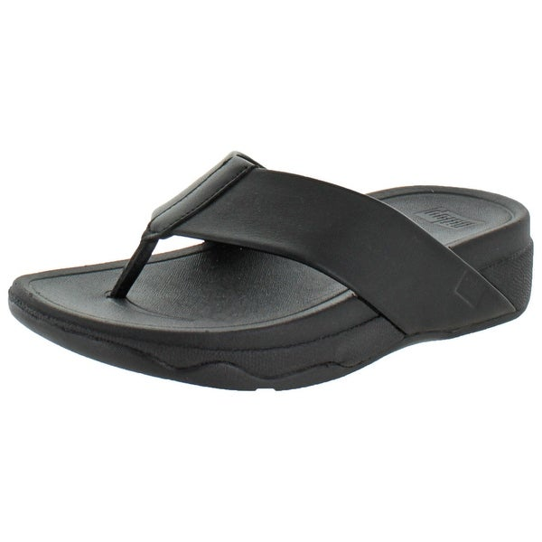 240d89a7ad0bd FitFlops Women  x27 s Surfa Leather Slip-on Sandals Shoes