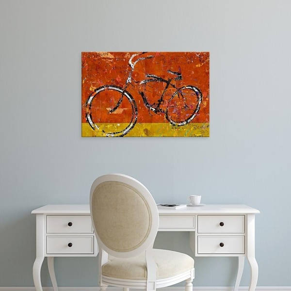 Easy Art Prints Daryl Thetford's 'Gold and Orange Bike' Premium Canvas Art