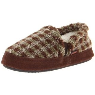 Acorn Colby Checkered Toddler Clog Slippers - 12-13