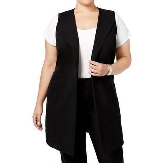 Nine West Womens Plus Modern Muse Suit Vest Solid Sleeveless