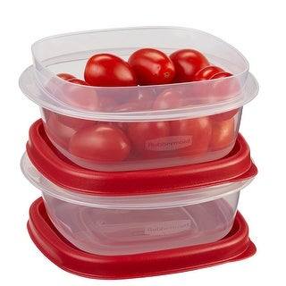 Rubbermaid Easy Find Lid 4-Piece Food Storage Container Set, Red (1.25 Cup)