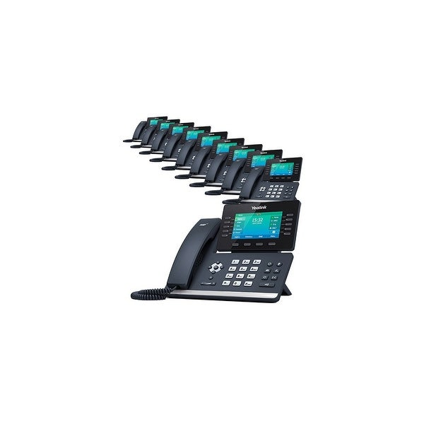 Yealink SIP-T52S 12 Line VoIP Corded Voice Over IP Phone- 10 Pack