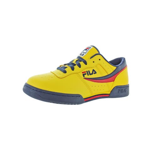 Fila Mens Original Fitness Casual Shoes Leather Athleisure
