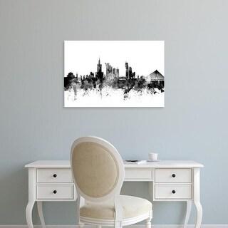 Easy Art Prints Michael Tompsett's 'Warsaw Poland Skyline' Premium Canvas Art