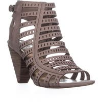 Vince Camuto Evalina Perforated Zip Up Sandals, Dusty Mink - 7 us / 37 eu
