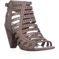 Vince Camuto Evalina Perforated Zip Up Sandals, Dusty Mink