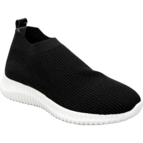 David Tate Women's Prime Slip On Sneaker Black Stretch Fabric