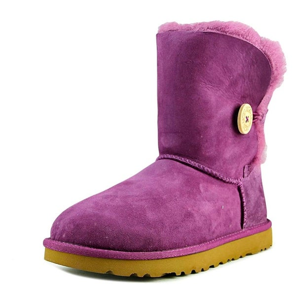 Ugg Australia Bailey Button Women Round Toe Suede Purple Winter Boot