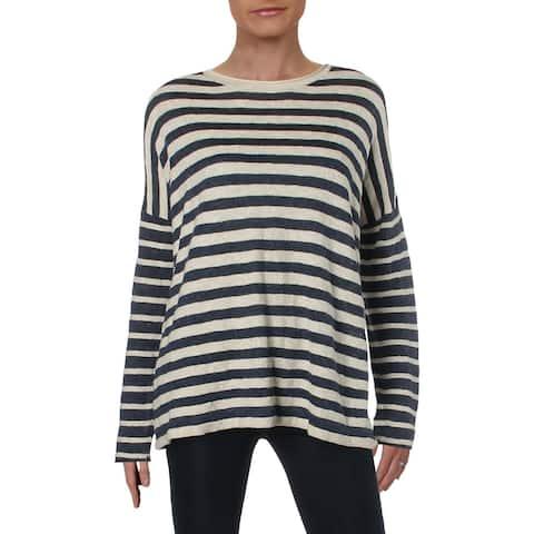 Polo Ralph Lauren Womens Pullover Sweater Striped Crewneck - L