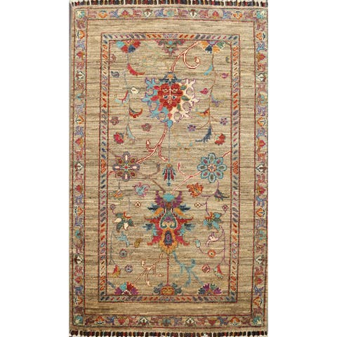 """Vegetable Dye Traditional Ziegler Oriental Area Rug Wool Hand-knotted - 2'9"""" x 4'3"""""""