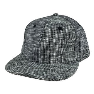 Stylish Flat Brim Knit Napa Adjustable Snapback Hat Cap by CapRobot - Black