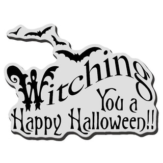 """Stampendous Cling Stamp 3.5""""X4"""" -Witching You"""