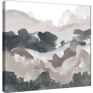 """PTM Images 9-100490  PTM Canvas Collection 12"""" x 12"""" - """"Layers of Winter D"""" Giclee Mountains Art Print on Canvas"""