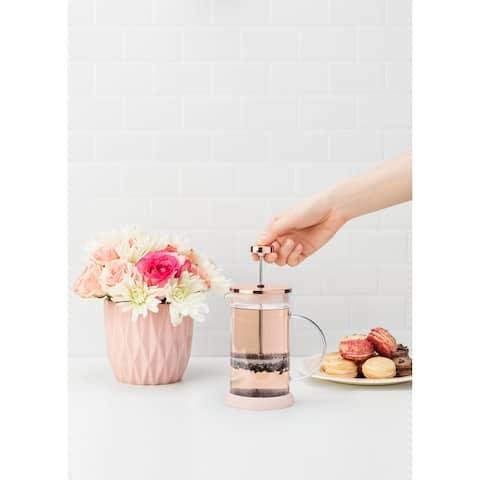 """Riley Mini Glass Tea Press Pot by Pinky Up - 6.25"""" x 4.5"""""""
