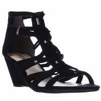 B35 Kaylan Dress Wedge Sandals, Black