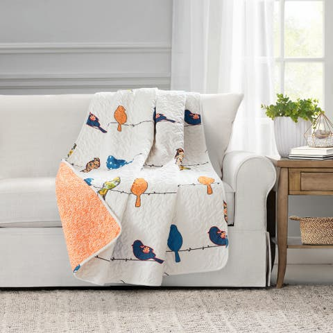Lush Decor Rowley Birds Throw Blanket